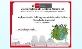 Implementación del Programa EDUCCA - Gobiernos Regionales - Ayacucho
