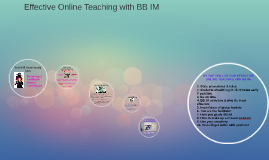 Effective Online Teaching with BB IM