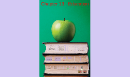 Chapter 13 : Education