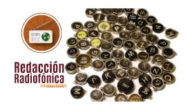 Copy of Redacción Radiofónica I