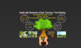 Koblerville Elementary School Tutoring & Tree Planting