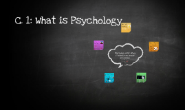 C. 1: What is Psychology
