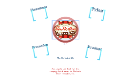 Marketing Mix - Tim Horton's