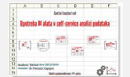 Upotreba BI alata u self-service analizi podataka
