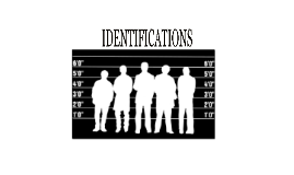 Rules of Evidence-Identifications