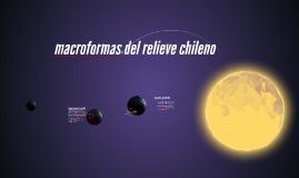 macroformas del relieve chileno