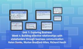 Unit 1: Week 4 of Exploring Business