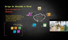 Grupo de discusión vs focal