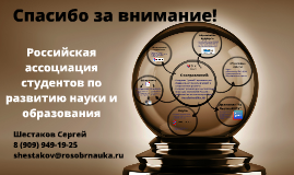 Copy of Российская ассоциация студентов по науке и образованию