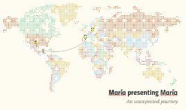 María presenting María