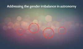 Addressing the gender imbalance in astronomy