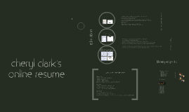 Copy of Cheryl Clark's Online Resume