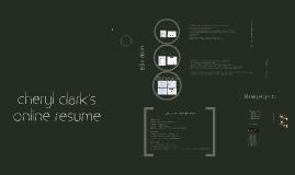 Copy of Cheryl Clark's Online Resume