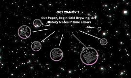 Art I 1st Period  Oct 29-Nov 2