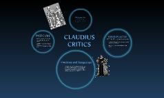 CLAUDIUS CRITICS