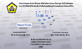 Kecernaan serat kasar (SK) dan Gross Energy (GE) dengan leve