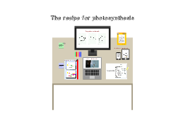 Copy of Copy of The recipe for photosynthesis