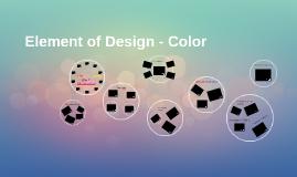 Element of Design - Color
