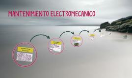 MANTENIMIENTO ELECTROMECANICO