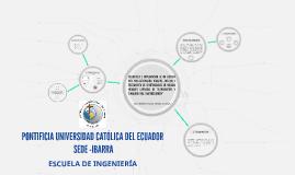 PONTIFICIA UNIVERSIDAD CATOLICA DEL ECUADOR SEDE -IBARRA