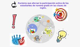 Factores que afectan la participación activa de los estudian