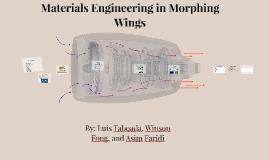 Materials Engineering in Morphing Wings