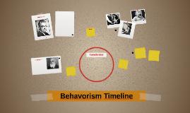 Behavorism Timeline