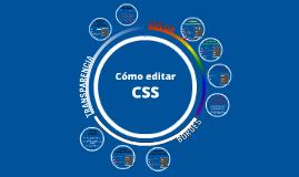 Cómo editar CSS