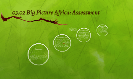 03.02 Big Picture Africa: Assessment