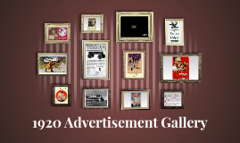 The Rise of Advertisements in the 1920s