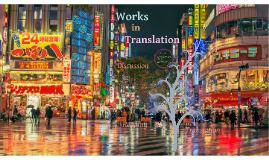 Lesson 10: Works in Translation