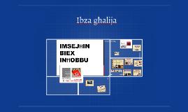 Ibza għalija