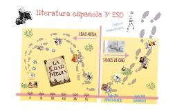 Cronología Literatura española 3º ESO