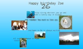 Zoe's 26