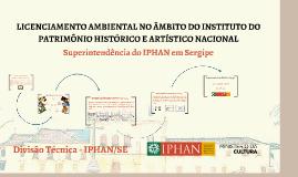 Licenciamento IPHAN/ADEMA