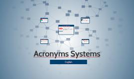 Acronimos de Sistemas