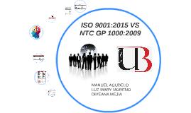 Copy of ISO 9001:2015 VS NTC GP 1000:2009