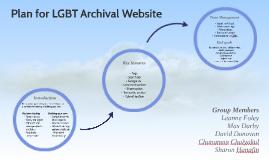Plan for LGBT Archival Website