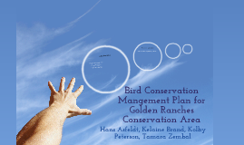 Bird Conservation Management Plan For Golden Ranches Conservation Area