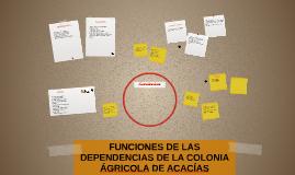 FUNCIONES DE LAS DEPENDENCIAS DE LA COLONIA AGRICOLA DE ACAC