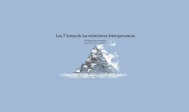 Las 7 leyes de las relaciones interpersonas