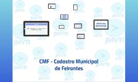CMF - Cadastro Municipal de Feirantes