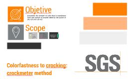 Colorfastness to crocking: crockmeter method