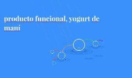 producto funcional, yogurt de maní