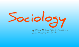 Sociology: The functionalist perspective