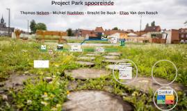 Project Park spooreinde