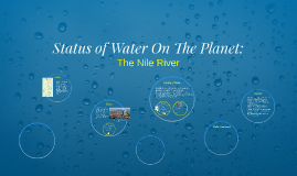 Status of Water On The Planet