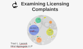 Examining Licensing Complaints
