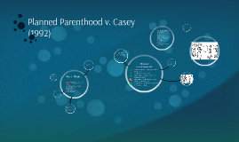 planned parenthood vs casey Planned parenthood of southeastern pennsylvania v casey (1992) is a  landmark us supreme court case concerning limitations on right to.