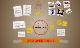 OPERATIONAL ROLE OF WEU